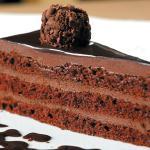 Pastel de chocolate sin leche
