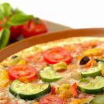 Pizza de calabacín y berenjena