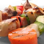 Tempura de pinchitos de tofu y verduras