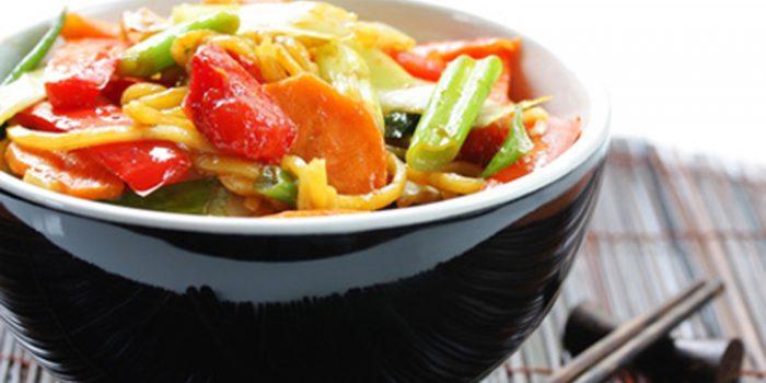 Receta de fideos soba con verduras