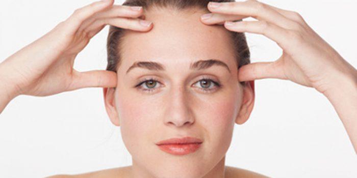 Ejercicios de masaje facial