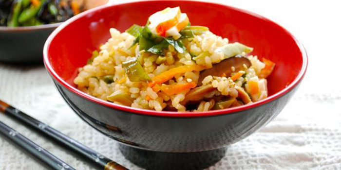 Receta de arroz con alga Wakame