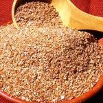 Propiedades del salvado de trigo integral