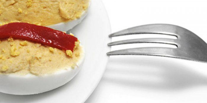 Receta de huevos rellenos de setas