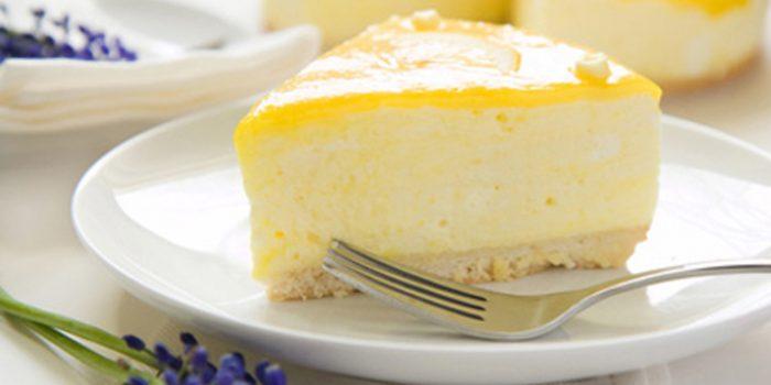 Pastel de limón sin leche