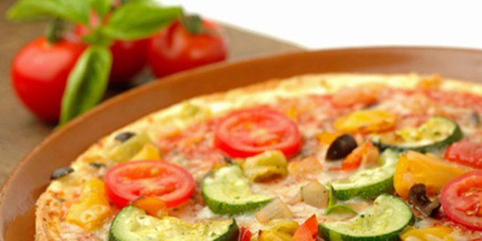 Receta de pizza de calabacín y berenjena