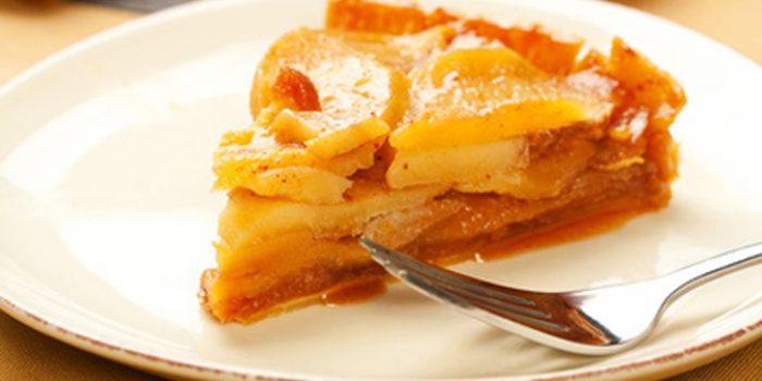 Tarta de manzana sin huevo y con aroma de menta