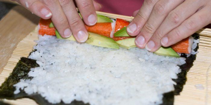 Receta de sushi vegetariano