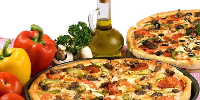 Receta de pizza de verduras