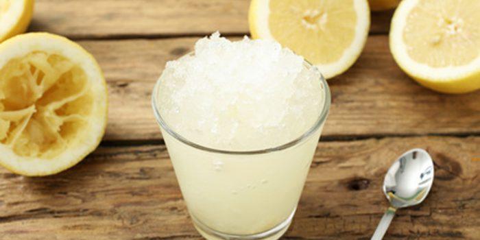 Cómo hacer granizado de limón