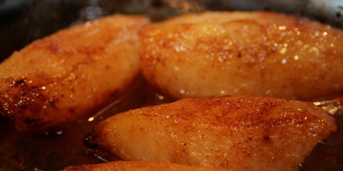 Receta de peras al horno en Papillot