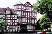 Construcción con el típico entramado alemán, al Sur de Hesse